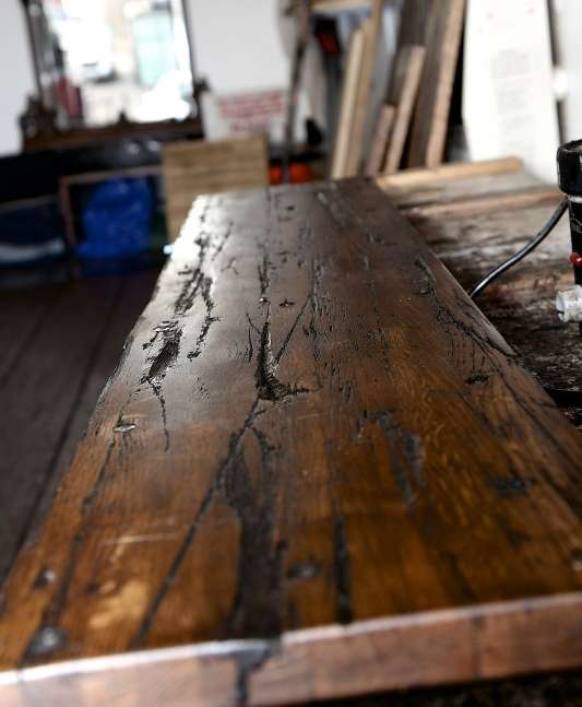 Single reclaimed semi trailer cargo planks
